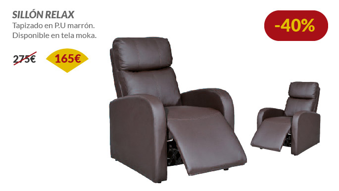 Oferta en sill n relax almer a for Sillones cheslong baratos
