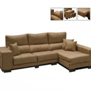 Sofá + Chaiselongue Deslizante y Reclinable Serie Bronce