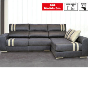 Chaiselongue 3 Plazas Opera14 Crudo/03 Gris Antracita