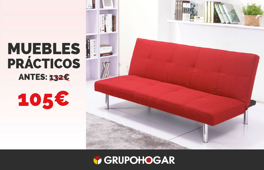 Muebles pr cticos chaiselongue mesa elevable canap for Sofa cama rebajas