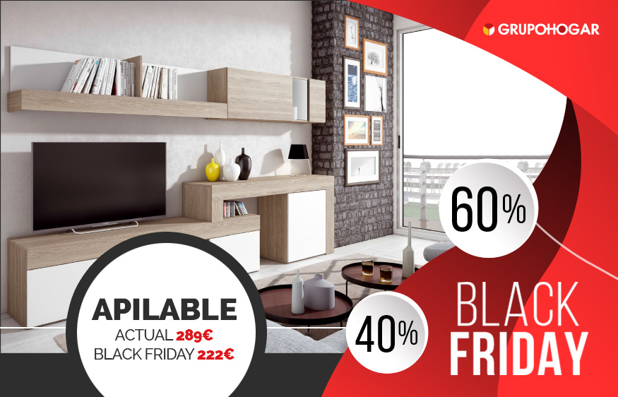 Apilable black friday promociones black friday muebles for Muebles black friday